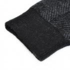 GENTRY CARRIAGE C3364 Cashmere Fiber Twill Socks for Men - Black + Grey