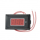 "V85A DIY 0.56"" 3-Digit Red LED Light Digital Voltmeter - Black + Red (AC 75~300V)"