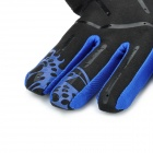 SCOYCO MX44 Professional Motorcycle Racing Full-Finger Gloves - Blue + Black + White (M / Pair)