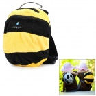 Bee Style Anti-Lost Kid's Soft Plush Backpack - Black + Yellow (2L)