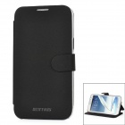 Newtons Protective PU Leather Flip-Open Case for Samsung N7100 - Black