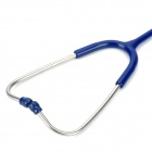 YS615 Deluxe Healthy Medical Single Head Stethoscope - Deep Blue + Silver