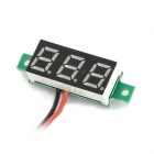 "V18 DIY 0.28"" 3-Digit LED Digital Voltmeter - Black + Green (2.5~30V)"