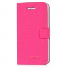 Newtons Protective PU Leather Flip-Open Case for Iphone 4 / 4S - Deep Pink