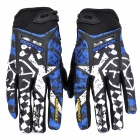 SCOYCO MX44 Full Finger Motorcycle Racing Gloves - Black + White + Blue (Pair / Größe-XXL)