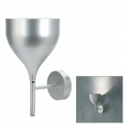 Wine Glass Style Metal Wall Light Cover for 3~5W E27 Lamp - Silver