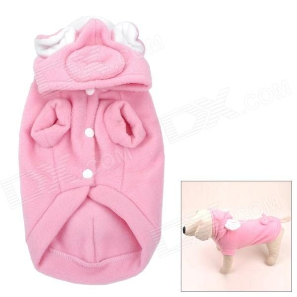 Pig Style Polar Fleece Dog Pet Clothes - Pink (35 x 23 x 23cm)