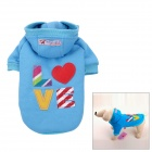 Love Letter Pattern Cotton Coat / Hoody for Pet Dog / Cat - Sky Blue