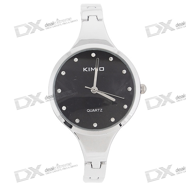 Kimio Stainless Steel Crystal Wrist Watch