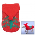 Christmas Tree Pattern Knitting Yarn Warm Sweater for Pet Dog - Red (28~32cm)
