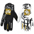 SCOYCO MX46 Full Finger Motorcycle Racing Knight Gloves - Black + White + Yellow (Size-M / Pair)