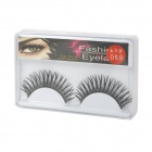 ZX-069 Black False Eyelashes for Beauty Makeup (Pair)