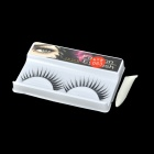ZX-063 Decoration False Thicken Eyelashes for Beauty Makeup - Black (Pair)