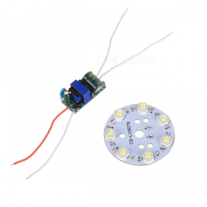 7W 7-LED 840lm 6500K Aluminum Base Single Light Source w/ Power Supply (100~240V)