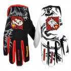 SCOYCO MX46 Full Finger Motorcycle Racing Knight Gloves - Red + Black + White (Size-M / Pair)