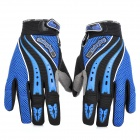 Y303 Motorcycle Bicycle Riding Anti-Slip Breathable Gloves - Blue + Black (Pair / Size L)