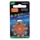 A13 1.45V 280mAh Zinc Air Batteries for Hearing-Aid - Silver (10PCS)