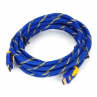 HDMI Male to Male Connection Cable - Blue + Yellow (500cm)