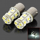 1156 BA15S P21W 2.3W 6000K 250lm 13-SMD 5050 LED White Car Steering Lamps (2 PCS / 12V)