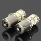 1156 BA15S P21W 2.3W 250lm White 13-SMD LED Car Steering Lamp (2PCS)