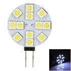 LY212 G4 3.6W 6000K 144lm 12-SMD 5050 LED White Household Lighting Lamp - Yellow + White