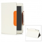 Protective PU Leather Case Stand for Ipad MINI - White