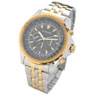 OUYAWEI 1033A-2 Fashionable Man's Analog Auto Mechanical Wrist Watch - Black + Golden