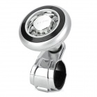 CBS-312 Car Steering Wheel Aid Spinner Knob Power Handle Grip Ball - Black + Silver