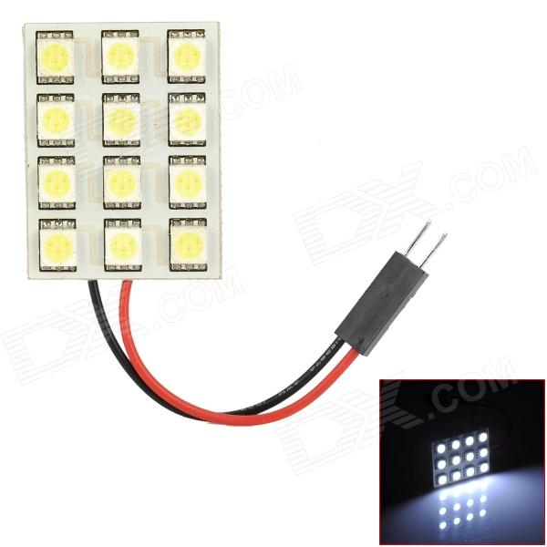 FD50-12W T10 BA9S Festoon 1.5W 6000K 170lm 12-SMD 5050 LED White Car Reading Lamp (12V) 8 64w 48 5050 smd led car reading interior dome light w t10 ba9s festoon 31 41mm connectors