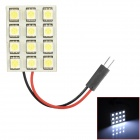 FD50-12W T10 BA9S Festoon 1.5W 6000K 170lm 12-SMD 5050 LED White Car Leselampe (12V)