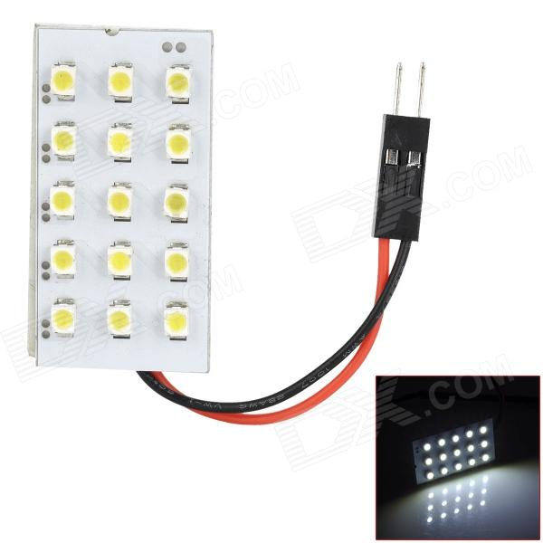FD1210-15W T10 BA9S Festoon 0.9W 6000K 90lm 15-SMD 3528 LED White Car Reading Lamp (12V)