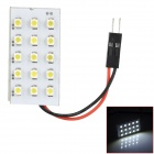 FD1210-15W T10 BA9S Festoon 0.9W 6000K 90lm 15-SMD 3528 LED White Car Leselampe (12V)