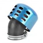 Motorcycle Modified Carburettor 35mm Air Filter - Blue + Black + Silver