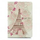 Flower Eiffel Tower Pattern Protective PU Leather Case for Ipad MINI
