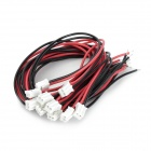 2.0PH 2P MP3 Decoder Board Cable - Red + Black (10PCS / 20cm)