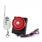 Vibration Activated 110dB Motorcycle Anti-Theft Security Alarm w/ Remote Controller - Black + Red