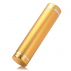 Cylindrical Shape 2600mAh Mobile Power Supply Battery w/ Micro USB - Golden