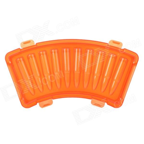 Creative AK-47 Frozen Bullet Shape Tasteless Ice Tray Module - Deep Orange