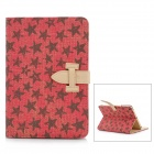 Protective Canvas Case for iPad Mini - Red + Black