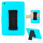 Protective Plastic Hard Back Case w/ Sleeve360 Rotation Hand Strap for iPad Mini - Blue