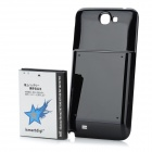 ismartdigi Replacement 6000mAh Extended Battery w/ Cover for Samsung Galaxy Note II N7100 - Black