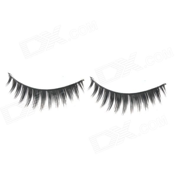 ZX-088 Decoration False Eyelashes for Beauty Makeup - Black (Pair)
