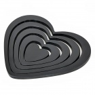 Love Heart Shape Wall / Door / Background Paper Sticker - Black