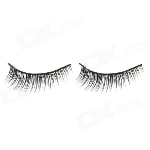 ZX-040 Makeup Natural Slanting Short Artificial Eyelashes - Black (Pair) цена