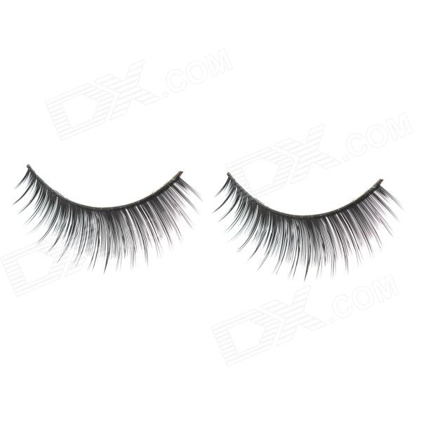 ZX-016 Decoration False Eyelashes for Beauty Makeup - Black (Pair)
