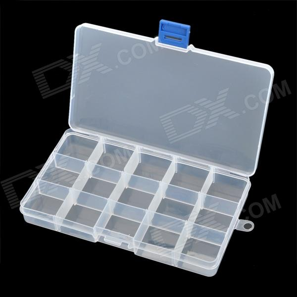 Removable Plastic Medicine / Jewelry Organizer / Storage Box - Transparent (3 x 5 Grids) practical 3 section medicine storage box small