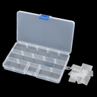 Removable Plastic Medicine / Jewelry Organizer / Storage Box - Transparent (3 x 5 Grids)