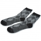 Centry Carriage C5384 Herren Rabbit Fur Socks - Black + Grey (Pair)