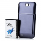ismartdigi Replacement 6000mAh Extended Battery w/ Cover for Samsung Galaxy Note II N7100 - Blue