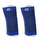 5202 Protective Sports Cotton + Polyester + Rubber Band Elbow Support - Black + Blue (2 PCS)